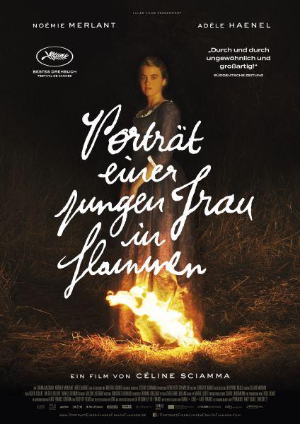 Porträt einer jungen Frau in Flammen (Kinoposter)
